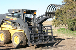 grapple with brush rake