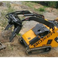 Boxer skid steer with rocks