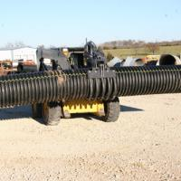 grapple with corrugated pipe