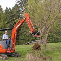 Tree pulling Ditch Witch attachment